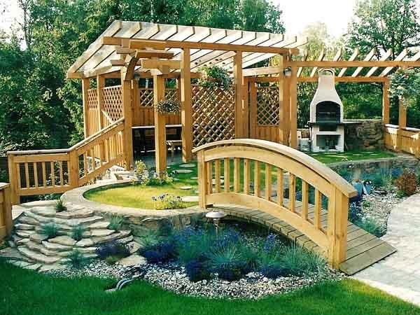 Сад огород беседки фото