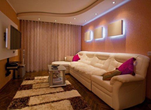 Потолки из гипсокартона  для гостиной фото