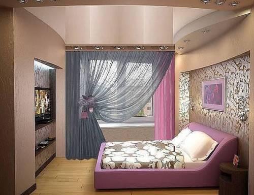 Дизайн узких и длинных спален