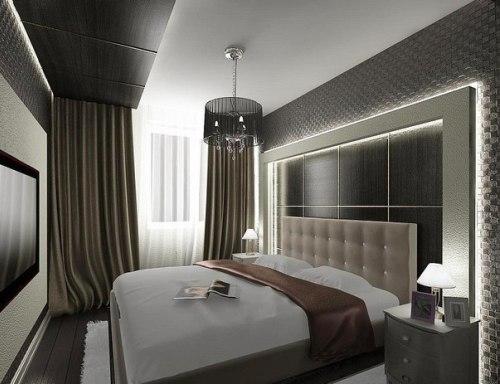Длинные и узкие спальни дизайн